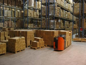 A warehouse packed with a large number and variety of items