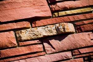 A closeup of a brick wall representing the basic building blocks of an idea