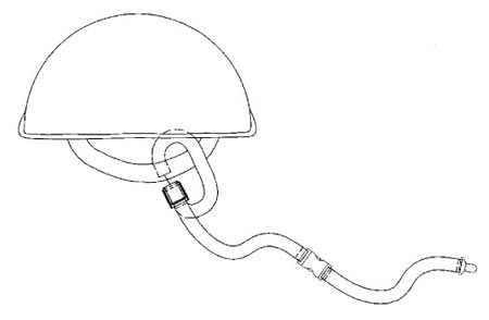 A sketch of a hard hat lanyard