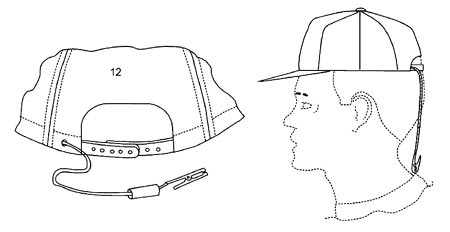 A sketch of a ball cap lanyard