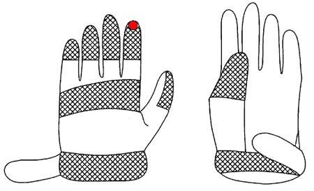 A sketch of magnetic fingertip gloves