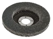 A circular tiered brush resembling a stack of sandpaper