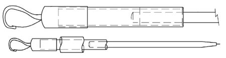 A sketch of a writing instrument holder lanyard