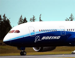 The front end of the Boeing 787 Dreamliner